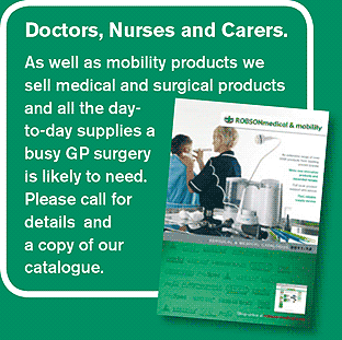 Doctors, Nurses and Carers, please call for a copy of our medical and surgical products cataloguee